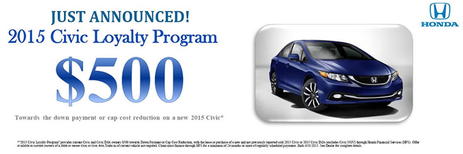 Evansville Indiana Civic $500 Offer