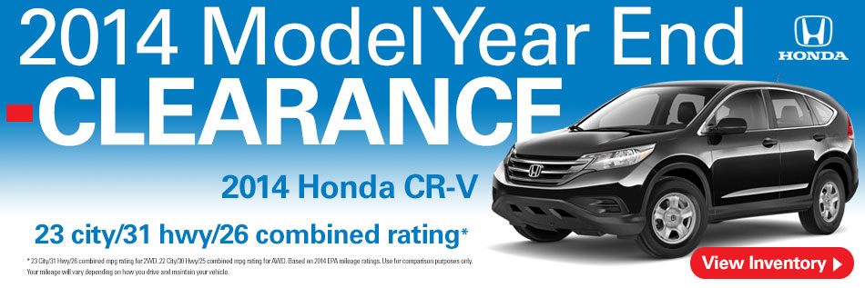 Evansville Indiana Honda CRV Clearance